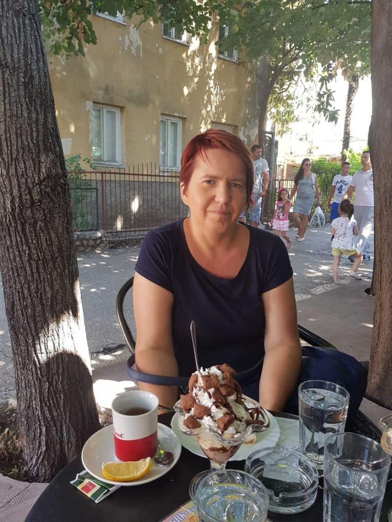 Мороженое в Требине. Спасибо туристам за удачное фото
