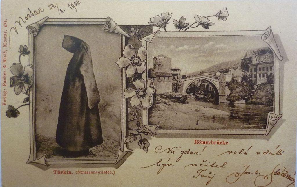 Фереджа по мостарской моде. Автор неизвестен, public domain