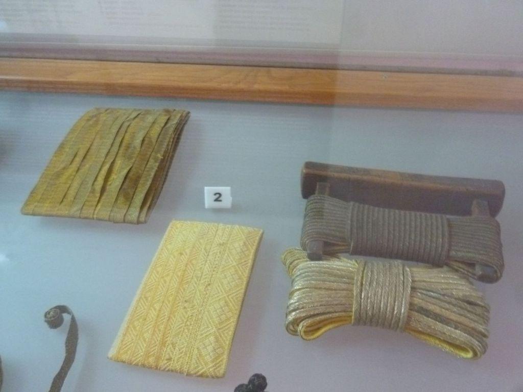 Тесьма и шнур-гайтан. Музей Бруса Безистан. Фото: Елена Арсениевич, CC BY-SA 3.0