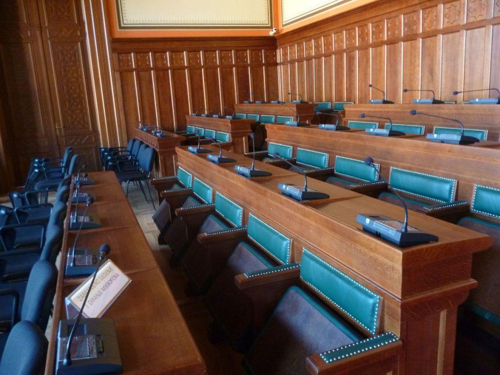 Зал заседаний в Виечнице. Фото: Елена Арсениевич, CC BY-SA 3.0