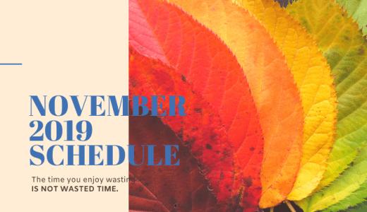 営業スケジュール|2019年11月