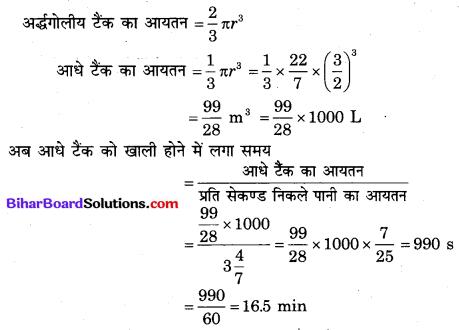 Bihar Board Class 10 Maths Solutions Chapter 13 पृष्ठीय क्षेत्रफल एवं आयतन Additional Questions SAQ 16