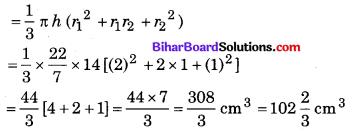 Bihar Board Class 10 Maths Solutions Chapter 13 पृष्ठीय क्षेत्रफल एवं आयतन Ex 13.4 Q1.1