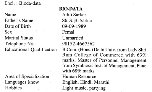Bihar Board Class 12 English Letter and Applications Writing 2