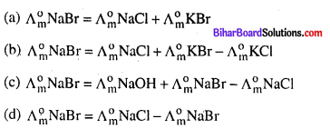 Bihar Board 12th Chemistry Objective Answers Chapter 3 वैद्युतरसायन 11