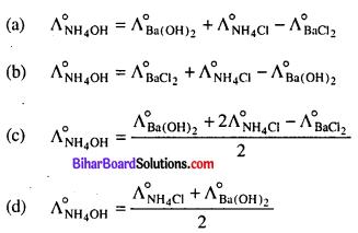 Bihar Board 12th Chemistry Objective Answers Chapter 3 Electrochemistry 12