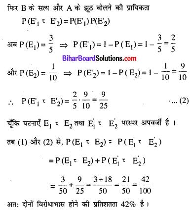 Bihar Board 12th Maths Model Question Paper 5 in Hindi SAQ Q22.1