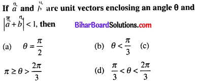 Bihar Board 12th Maths Objective Answers Chapter 10 Vector Algebra Q20