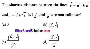 Bihar Board 12th Maths Objective Answers Chapter 11 त्रि-विमीय ज्यामिति Q53
