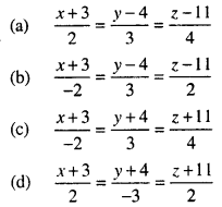 Bihar Board 12th Maths Objective Answers Chapter 11 Three Dimensional Geometry Q19