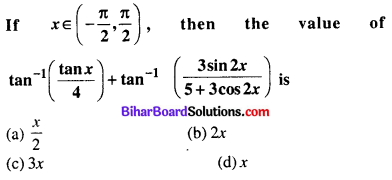 Bihar Board 12th Maths Objective Answers Chapter 2 Inverse Trigonometric Functions Q14