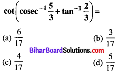 Bihar Board 12th Maths Objective Answers Chapter 2 Inverse Trigonometric Functions Q21
