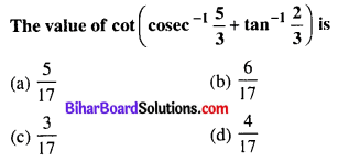 Bihar Board 12th Maths Objective Answers Chapter 2 Inverse Trigonometric Functions Q8