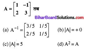 Bihar Board 12th Maths Objective Answers Chapter 3 आव्यूह Q16
