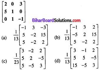 Bihar Board 12th Maths Objective Answers Chapter 3 Matrices Q29
