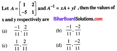 Bihar Board 12th Maths Objective Answers Chapter 3 Matrices Q32
