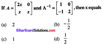 Bihar Board 12th Maths Objective Answers Chapter 3 Matrices Q35