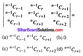 Bihar Board 12th Maths Objective Answers Chapter 4 सारणिक Q28