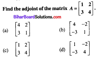 Bihar Board 12th Maths Objective Answers Chapter 4 Determinants Q31