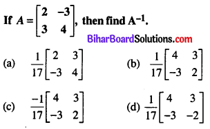 Bihar Board 12th Maths Objective Answers Chapter 4 Determinants Q40
