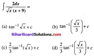 Bihar Board 12th Maths Objective Answers Chapter 7 समाकलन Q50