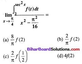 Bihar Board 12th Maths Objective Answers Chapter 7 समाकलन Q67