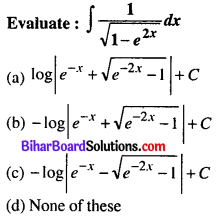 Bihar Board 12th Maths Objective Answers Chapter 7 Integrals Q11