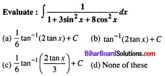 Bihar Board 12th Maths Objective Answers Chapter 7 Integrals Q13