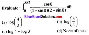 Bihar Board 12th Maths Objective Answers Chapter 7 Integrals Q27