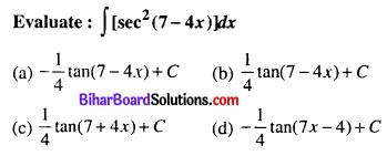 Bihar Board 12th Maths Objective Answers Chapter 7 Integrals Q3