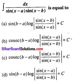 Bihar Board 12th Maths Objective Answers Chapter 7 Integrals Q37