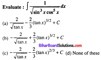 Bihar Board 12th Maths Objective Answers Chapter 7 Integrals Q8