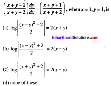 Bihar Board 12th Maths Objective Answers Chapter 9 Differential Equations Q24
