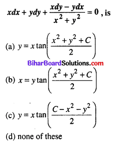 Bihar Board 12th Maths Objective Answers Chapter 9 Differential Equations Q25