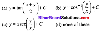 Bihar Board 12th Maths Objective Answers Chapter 9 Differential Equations Q41