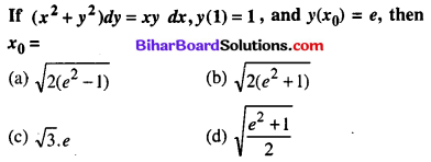 Bihar Board 12th Maths Objective Answers Chapter 9 Differential Equations Q43