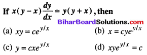 Bihar Board 12th Maths Objective Answers Chapter 9 Differential Equations Q49