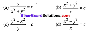 Bihar Board 12th Maths Objective Answers Chapter 9 Differential Equations Q52