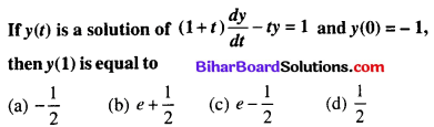 Bihar Board 12th Maths Objective Answers Chapter 9 Differential Equations Q64