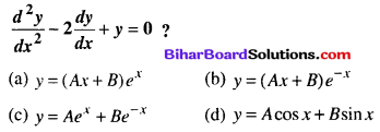 Bihar Board 12th Maths Objective Answers Chapter 9 Differential Equations Q74
