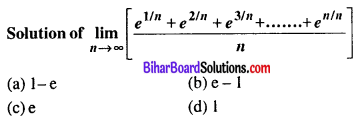 Bihar Board 12th Maths VVI Objective Questions Model Set 1 in English Q50