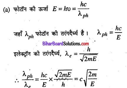 Bihar Board 12th Physics Objective Answers Chapter 11 विकिरण तथा द्रव्य की द्वैत प्रकृति - 5