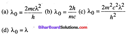 Bihar Board 12th Physics Objective Answers Chapter 11 Dual Nature of Radiation and Matter - 6