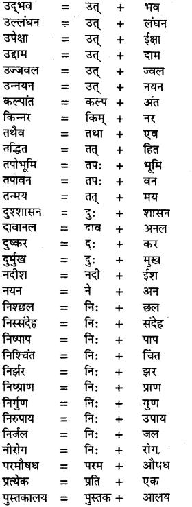 Bihar Board Class 11th Hindi व्याकरण संधि 2