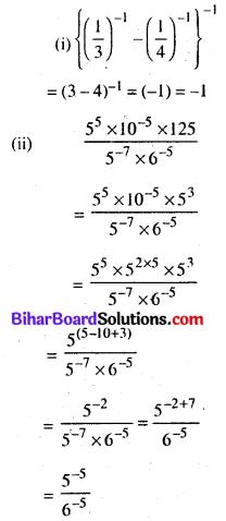Bihar Board Class 8 Maths Solutions Chapter 10 घातांक और घात Ex 10.1 Q11.1