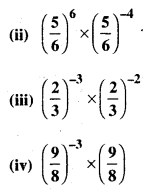 Bihar Board Class 8 Maths Solutions Chapter 10 घातांक और घात Ex 10.1 Q3.1
