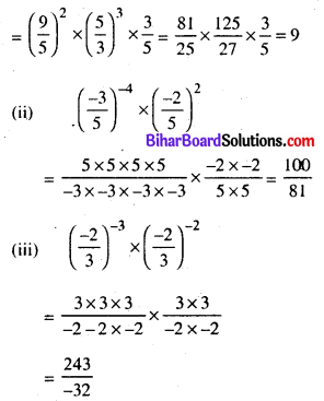 Bihar Board Class 8 Maths Solutions Chapter 10 घातांक और घात Ex 10.1 Q4.2