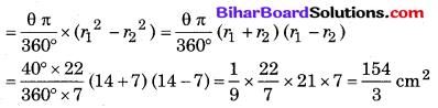 Bihar Board Class 10 Maths Solutions Chapter 12 वृतों से संबंधित क्षेत्रफल Ex 12.3 Q2.2