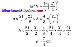 Bihar Board Class 10 Maths Solutions Chapter 13 पृष्ठीय क्षेत्रफल एवं आयतन Additional Questions SAQ 12