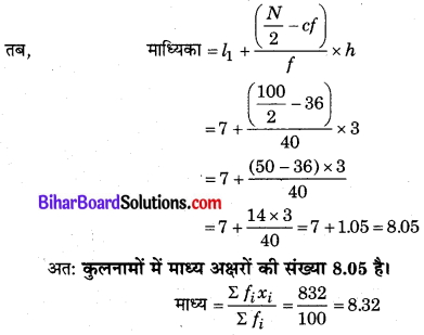 Bihar Board Class 10 Maths Solutions Chapter 14 सांख्यिकी Ex 14.3 Q6.2